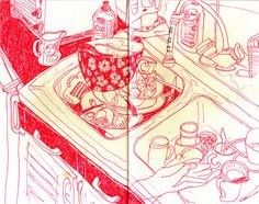 art journal / sketchbook - 71 by maïlys sketchbook, via Flickr