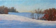 "Daily Paintworks - ""WINTERS LIGHT An Original Oil Painting by Claire Beadon Carnell"" - Original Fine Art for Sale - © Claire Beadon Carnell"