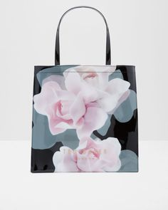 Porcelain Rose large shopper bag - Black | Bags | Ted Baker UK