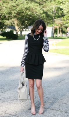 how to wear a peplum to the office - www.lovelucygirl.com