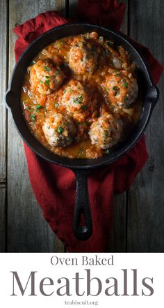 Unbelievably easy Oven Baked Italian Meatballs! A great weeknight dinner and on the table in LESS than 30 minutes!| Gluten Free | Paleo | teabsicuit.org