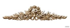 Laurel Branch W/Rose - Louis XVI 4 1/4H X 17 3/8W - 9/16Rel