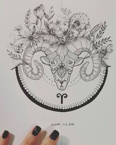 Aries Mandala Art - Dotwork by elenoosh.deviantart.com on @DeviantArt