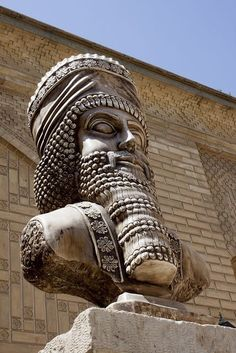 Statue of Great king Cyrus in Shiraz City. Iran