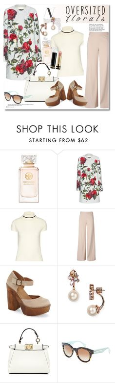 """""""Get the look"""" by vkmd on Polyvore featuring Tory Burch, Dolce&Gabbana, Totême, Anja, Christopher Kane, Steven by Steve Madden, Kate Spade, Fendi, Gucci and oversizedflorals"""