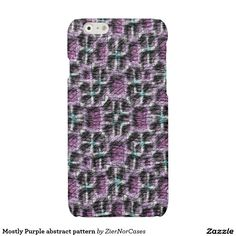 Mostly Purple abstract pattern Glossy iPhone 6 Case Iphone Models, Abstract Pattern, Iphone Case Covers, Purple