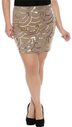 #Wet Seal                 #Skirt                    #Scallop #Sequin #Bodycon #Skirt #Shop #Plus #Seal  Scallop Sequin Bodycon Skirt | Shop Jr. Plus at Wet Seal                                                http://www.seapai.com/product.aspx?PID=305266