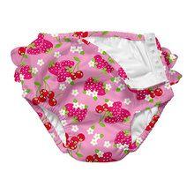 Ultimate Swim Diaper for Baby Girls - Berries with Ruffle
