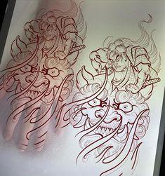 Palm Tattoos, Asian Tattoos, Hp Tattoo, Make Tattoo, Future Tattoos, Tattoos For Guys, Foo Dog Tattoo Design, Dragon Head Tattoo, Hannya Mask Tattoo