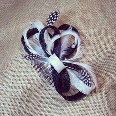 Tocado mini black & white
