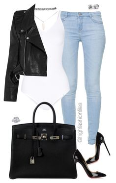 """""""Plain & Simple"""" by highfashionfiles ❤ liked on Polyvore featuring Zara, Yummie by Heather Thomson, Hermès, Wet Seal, Vetements and Christian Louboutin"""