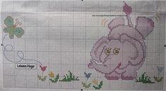 juegos de cama en punto de cruz Cross Stitch Baby, Cross Stitch Animals, Cross Stitch Patterns, Rico Design, Baby Crafts, Embroidery, Sewing, Handmade, Toddler Bed Sheets