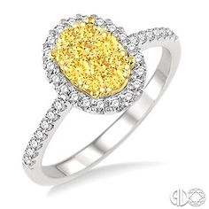 LoveBright Diamond Ring. 3/4 Ctw Oval Shape Diamond Lovebright Ring In 14k White And Yellow Gold