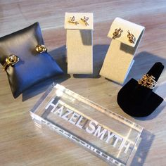 -New Designer Alert!!- Come Check Out Our Hazel Smyth Collection!  www.meredithjackson.com  #hazelsmyth #majdesigns #earrings #ring #cuff #jewelry #gold #knot #shopsmall #charlotte