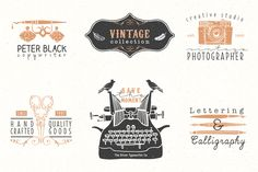 Vintage hand drawn illustrations by kite-kit on @creativemarket