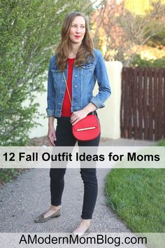 Twelve fall outfit ideas that can be easily re-created from clothes you already own. Click here to see all twelve outfits.