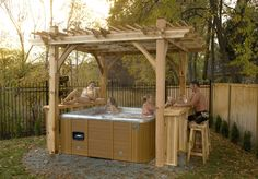 Hot tub pergola plans Hot tub pergola plans Build Garden Structures in Your Backyard I have long wanted to know how to build a pergola in my backyard I wanted a nice shad