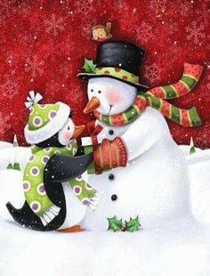 #Christmas #Snowman #Penguin
