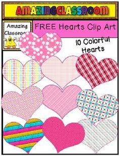 FREE Hearts Clip Art Set