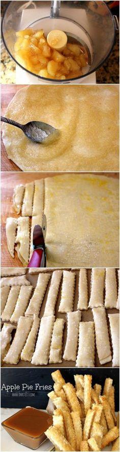 traktatie appel en bladerdeeg. ..vooral lekker met vanillesuiker en kaneel....