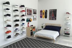 Plenty of space to display your kicks, and even room for a bed.