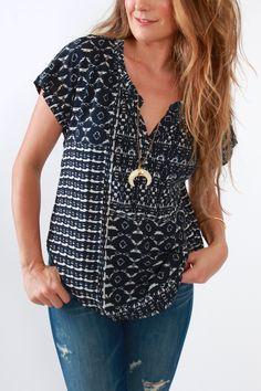 Velvet, Dorie Shirt in Twilight from Viva Diva Boutique