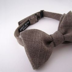 Bow Tie  Cafe au Lait Wool by KnotNowBowTies on Etsy
