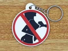 New Motorcycle Rubber Keyring Keychain Key Ring Key Chain Funny Don't touch me   #unbrand