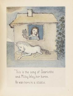 from Charlotte and the White Horse by Ruth Krauss, pictures by Maurice Sendak