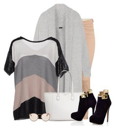 """""""Untitled #1292"""" by fashionista-sweets ❤ liked on Polyvore featuring H&M, Joseph, Twin-Set and Ray-Ban"""