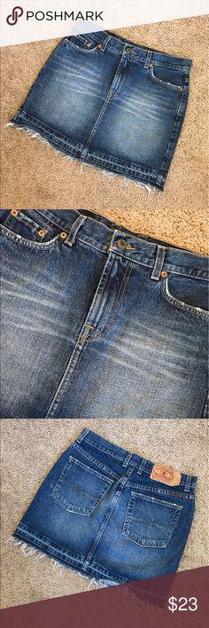 Lucky Brand Denim Skirt Excellent condition! Lucky Brand Skirts Mini