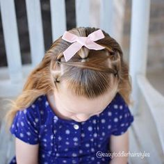Rope Twist Hairstyle - Zigzag Toddler Hairdo, Easy and Cute! Easy Toddler Hairstyles, Little Girl Hairstyles, Twist Hairstyles, Herbal Essences, Rope Twist, Hair Bows, Little Girls, Girly, Coupon
