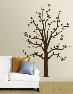 Link to Purchase  it cost is very good on this sight. This one can be reused when you move!!!!!! Brown Tree Wall Decal at AllPosters.com