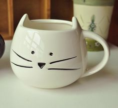 Black & White Kitty Cat Mug/Cup