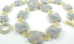 Silvered moonlight sonata beaded necklace