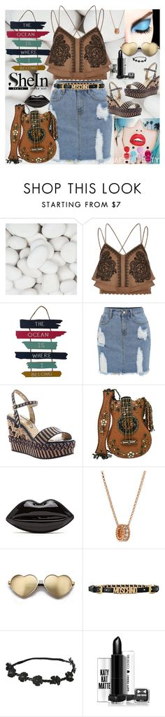 """""""#lookshein"""" by bilbomex ❤ liked on Polyvore featuring Rupaul, River Island, Poetic Licence, Mary Frances Accessories, Roberto Coin, Wildfox and Moschino"""