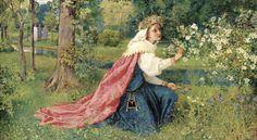 Matilda - Dante, Purgatorio, Canto 28, Dated 1859 - George Dunlop Leslie Prints - Easyart.com