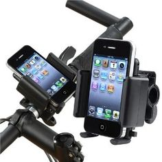 Everydaysource Compatible With Cell phones / PDA Black Bicycle Phone Holder + Mini Hamburger Speaker