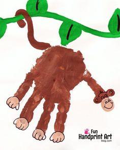 Monkey Handprint Art Keepsake