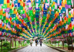 Tunnel of Lanterns, Beomeosa Temple, Busan, South Korea