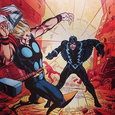 Thor vs Black Bolt