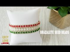 YouTube Love Bracelets, Bangles, Beaded Bracelets, Diy Jewelry, Beaded Jewelry, Jewelry Making, Make Your Own Jewelry, Beading Patterns, Seed Beads