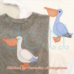 Perry the Pelican Applique Design