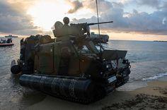 French Marines of 21st Marine Infantry Regiment (21eRIMa) amphibious exercise tactical-Experimentation high mobility vehicle.