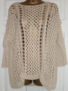FAB OVERSIZED JUMPER BY DOROTHY PERKINS SIZE 18-20 BUST 64 £88.42 (10Bds)
