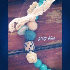 Κολιέ bubblegum blue