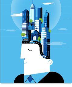 Корпоративная иллюстрация от Mauco Sosa - Статьи - RU.Vectorboom