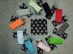 Skull and Crossbone MINKY Carseat Strap Covers by taramcwilliams, $10.00