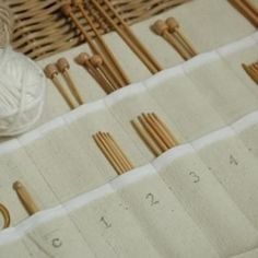 create your own knitting needle holder out of canvas