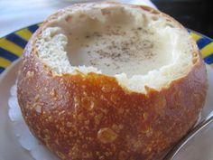 Clam chowder sourdough bread bowl, San Francisco